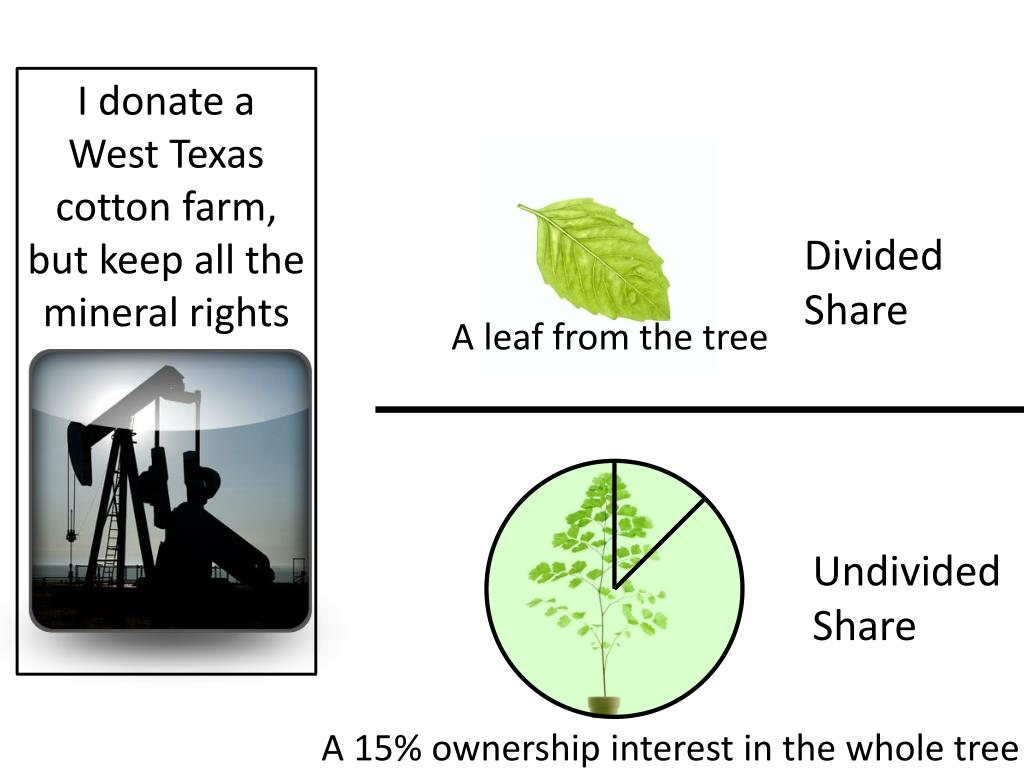 I donate a West Texas cotton farm, but keep all the mineral rights