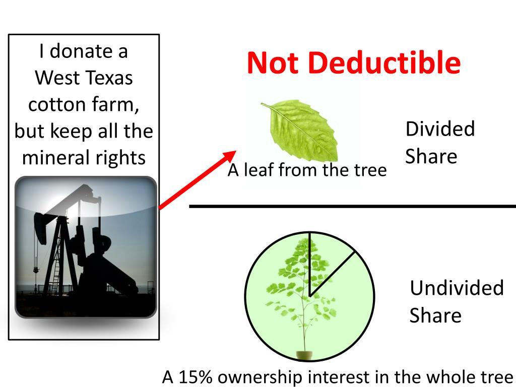 Not Deductible