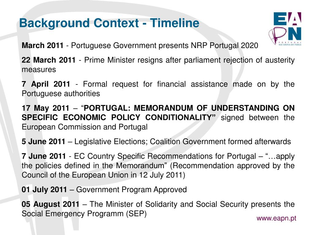 Background Context - Timeline