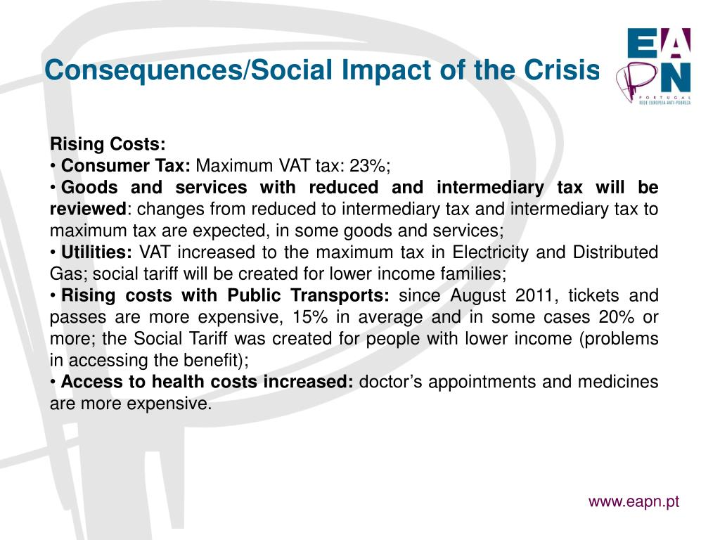 Consequences/Social Impact of the Crisis