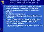 environmental management of areas and activities within ports water land air