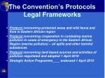the convention s protocols legal frameworks