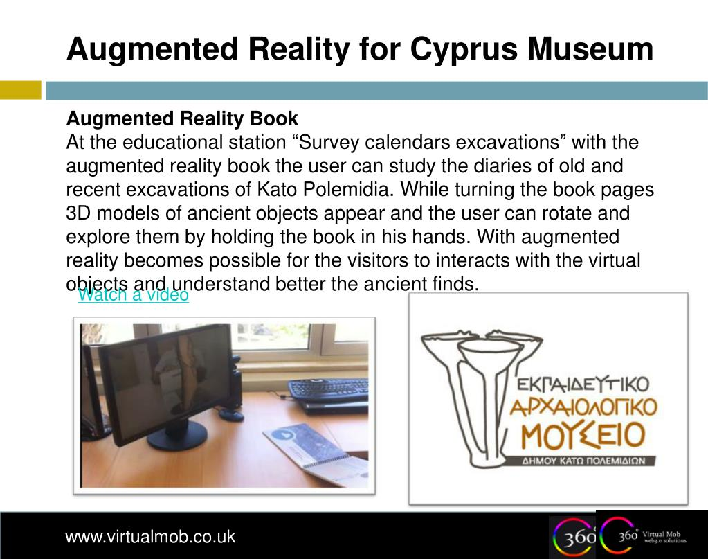 Augmented Reality for Cyprus Museum