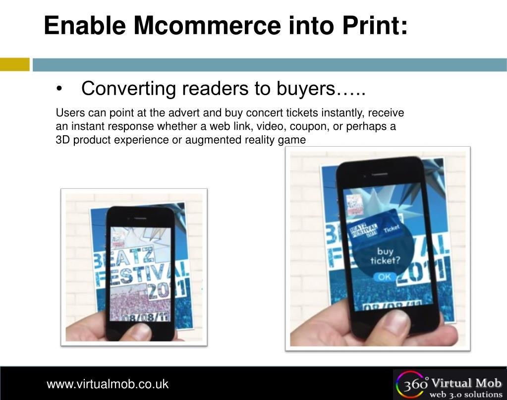 Enable Mcommerce into Print: