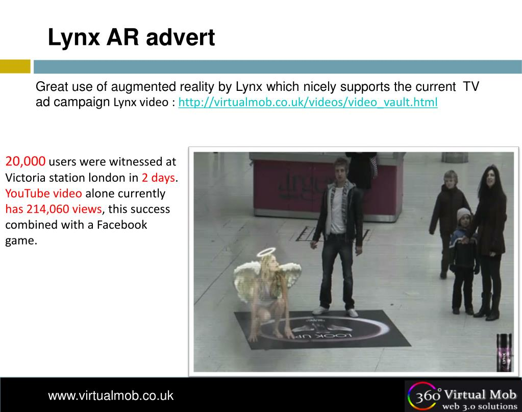 Lynx AR advert