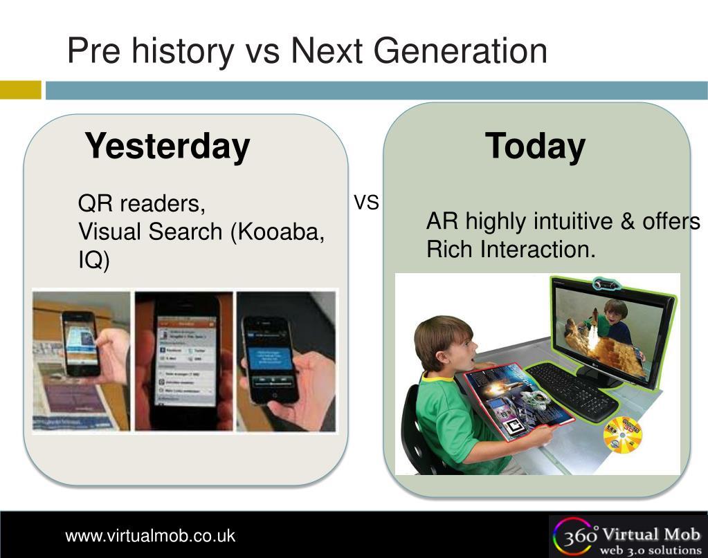 Pre history vs Next Generation