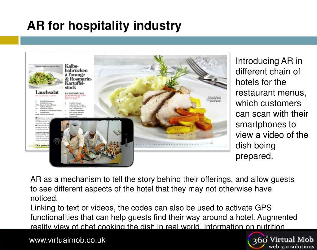 AR for hospitality industry