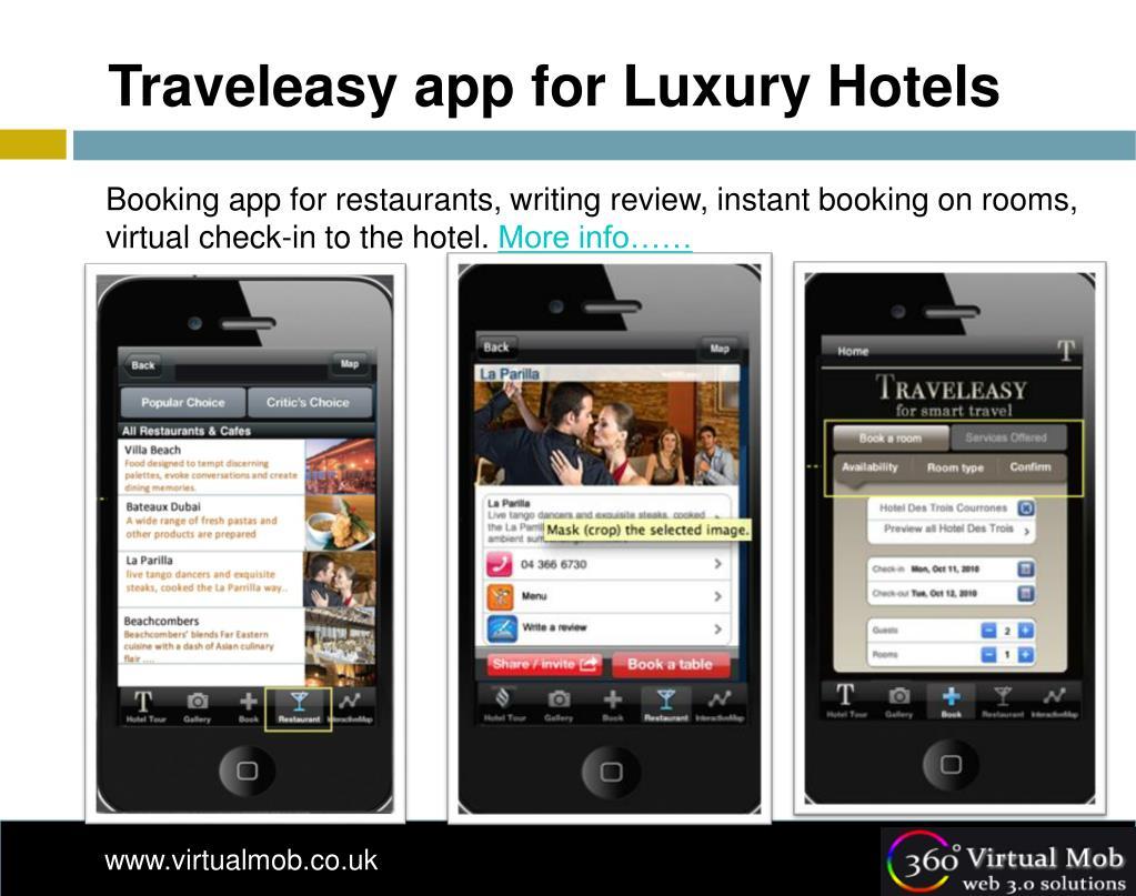 Traveleasy app for Luxury Hotels