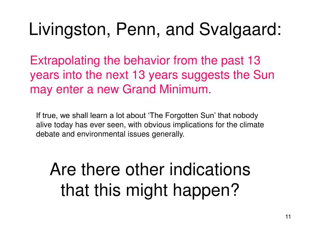 Livingston, Penn, and Svalgaard: