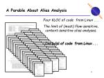 a parable about alias analysis