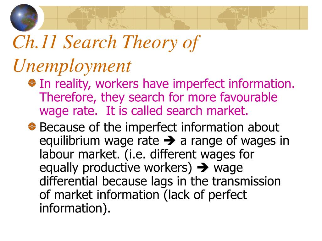 Ch.11 Search Theory of  Unemployment