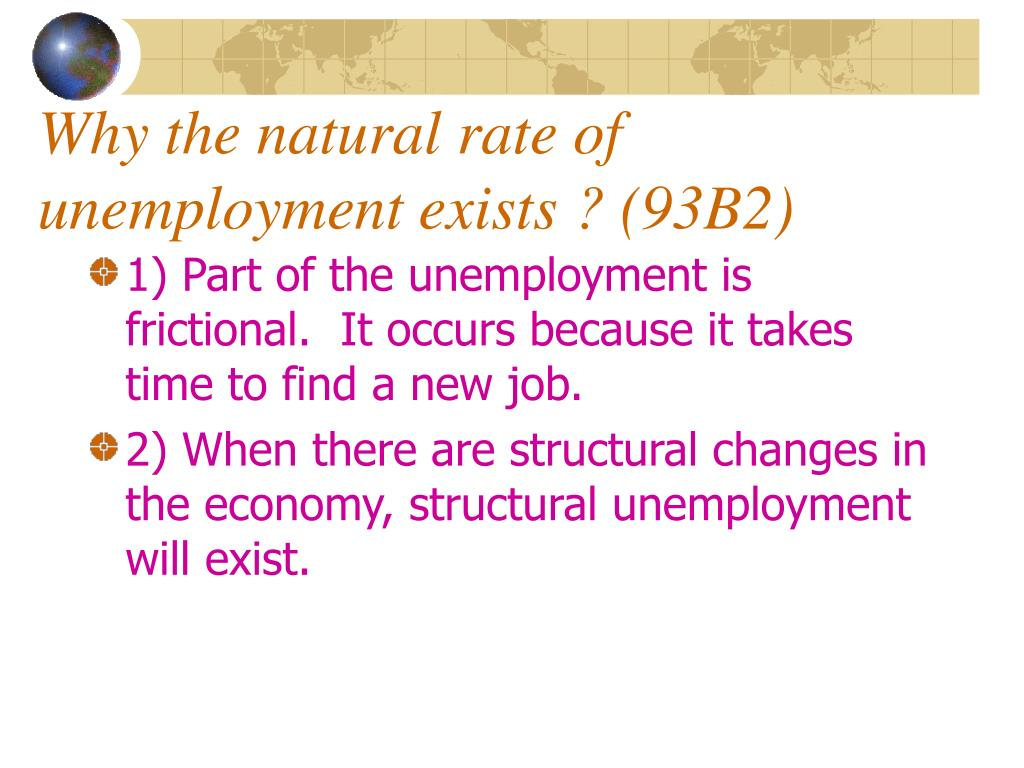 Why the natural rate of unemployment exists ? (93B2)