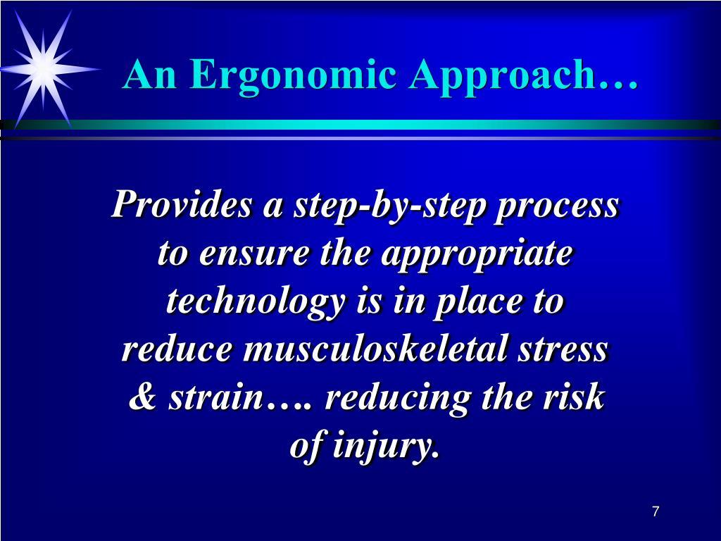 An Ergonomic Approach…