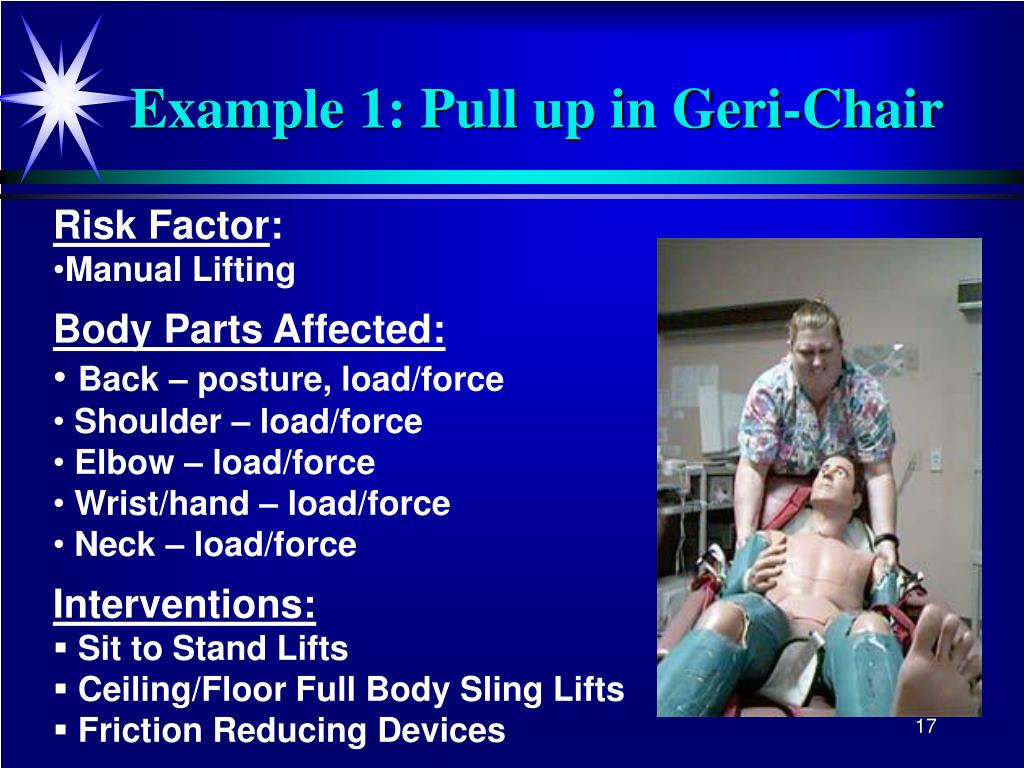 Example 1: Pull up in Geri-Chair