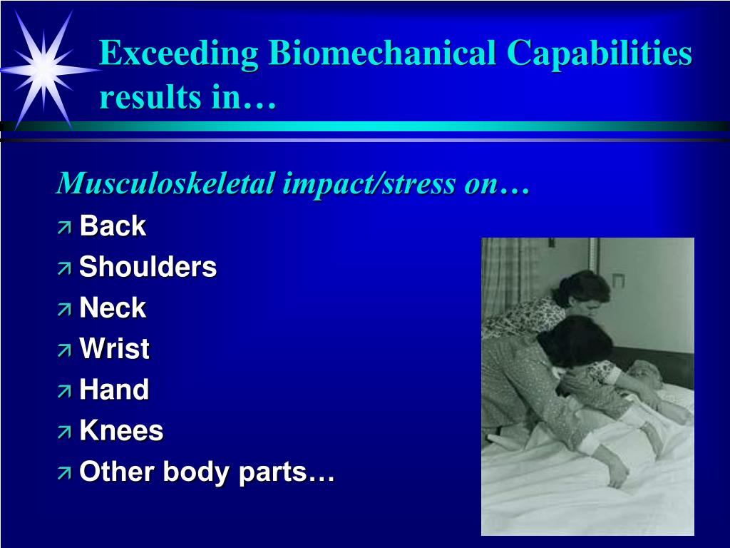 Musculoskeletal impact/stress on…