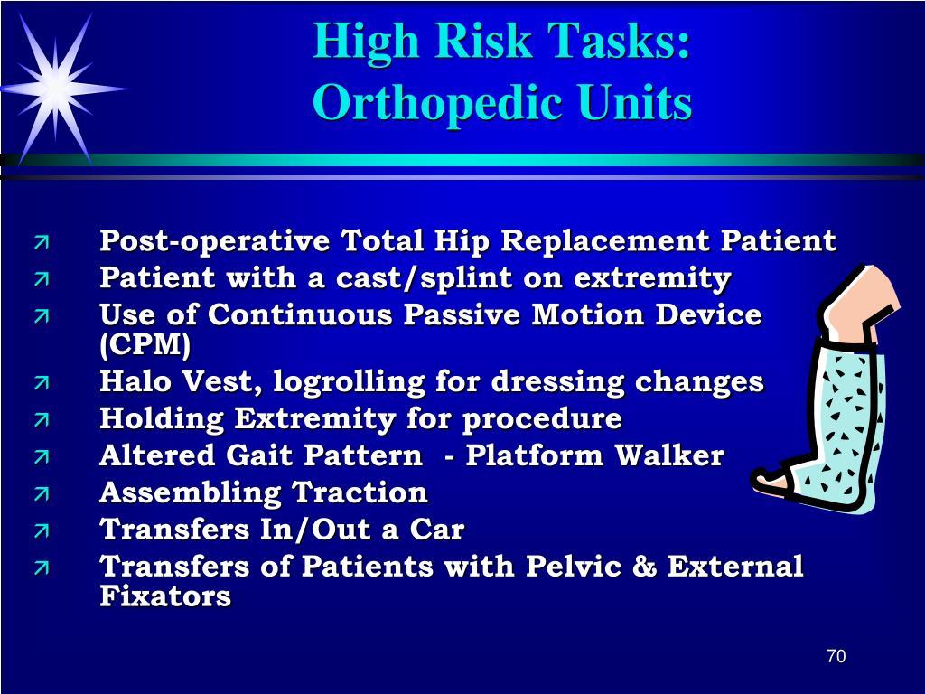High Risk Tasks: