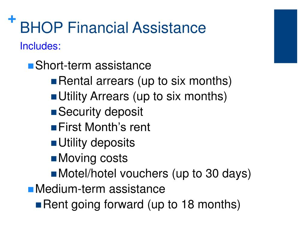 BHOP Financial Assistance