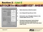 section 2 list c25