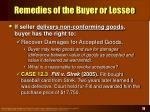 remedies of the buyer or lessee18