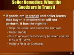 seller remedies when the goods are in transit