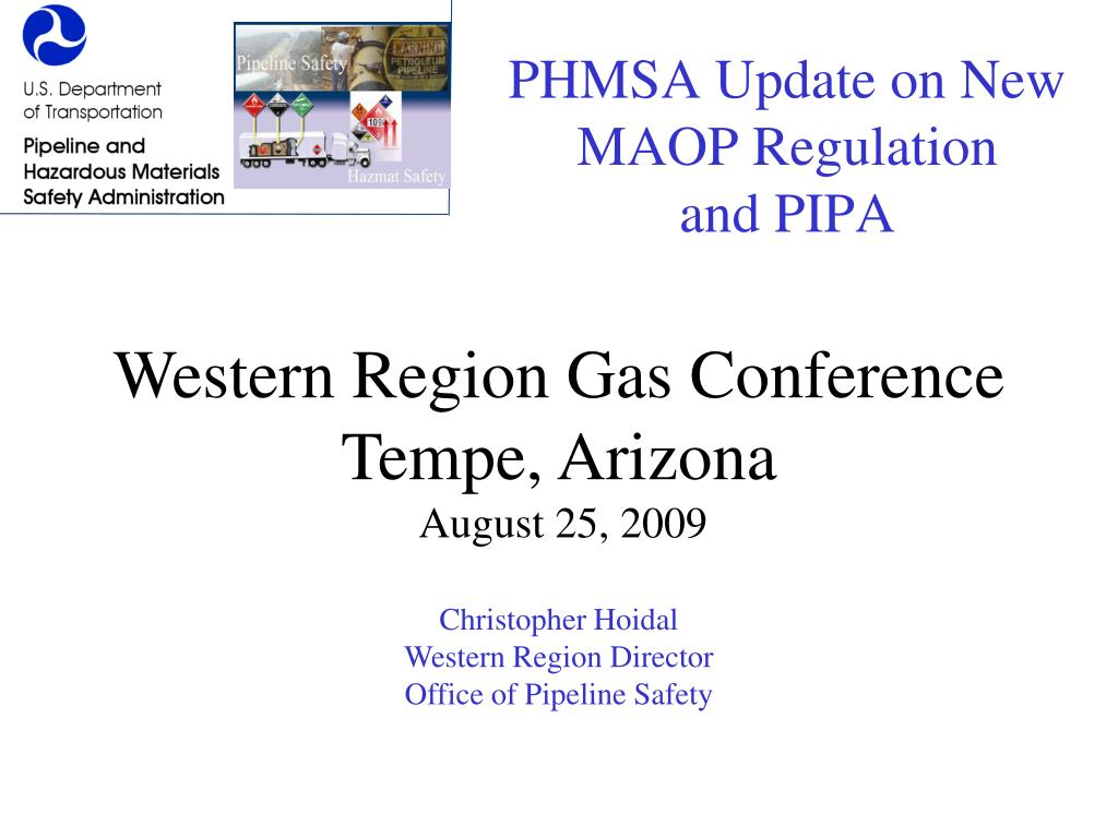 PHMSA Update on New MAOP Regulation