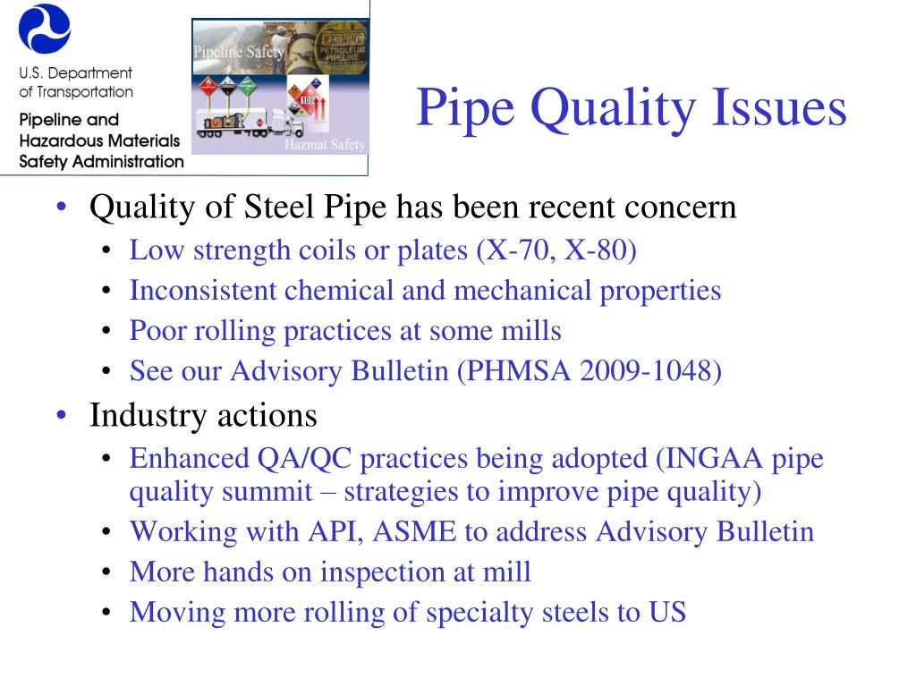 Pipe Quality Issues
