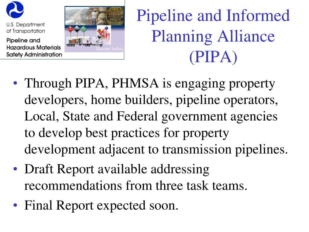 Pipeline and Informed Planning Alliance