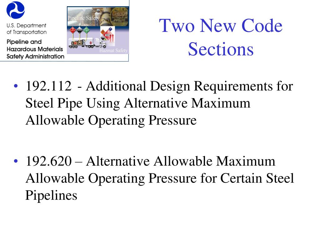 Two New Code Sections