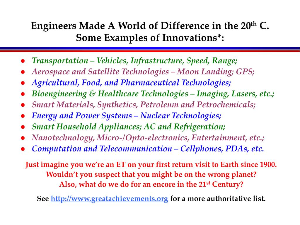 Engineers Made A World of Difference in the 20