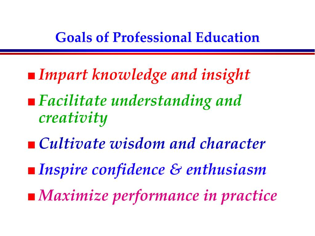 Goals of Professional Education