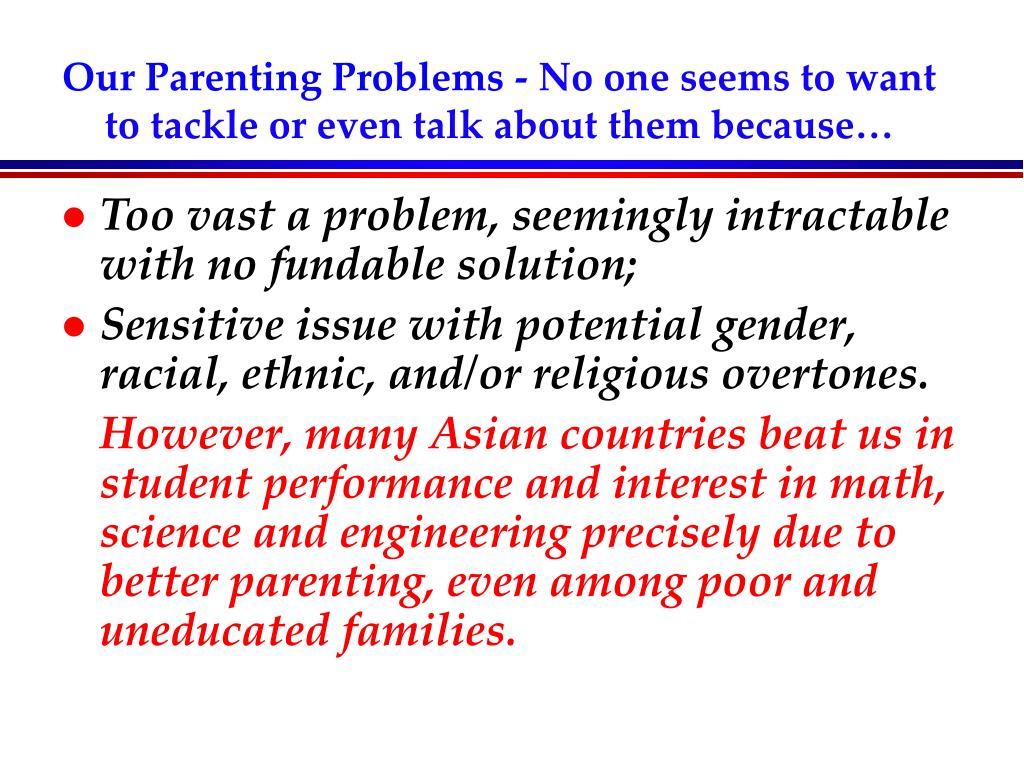 Our Parenting Problems -