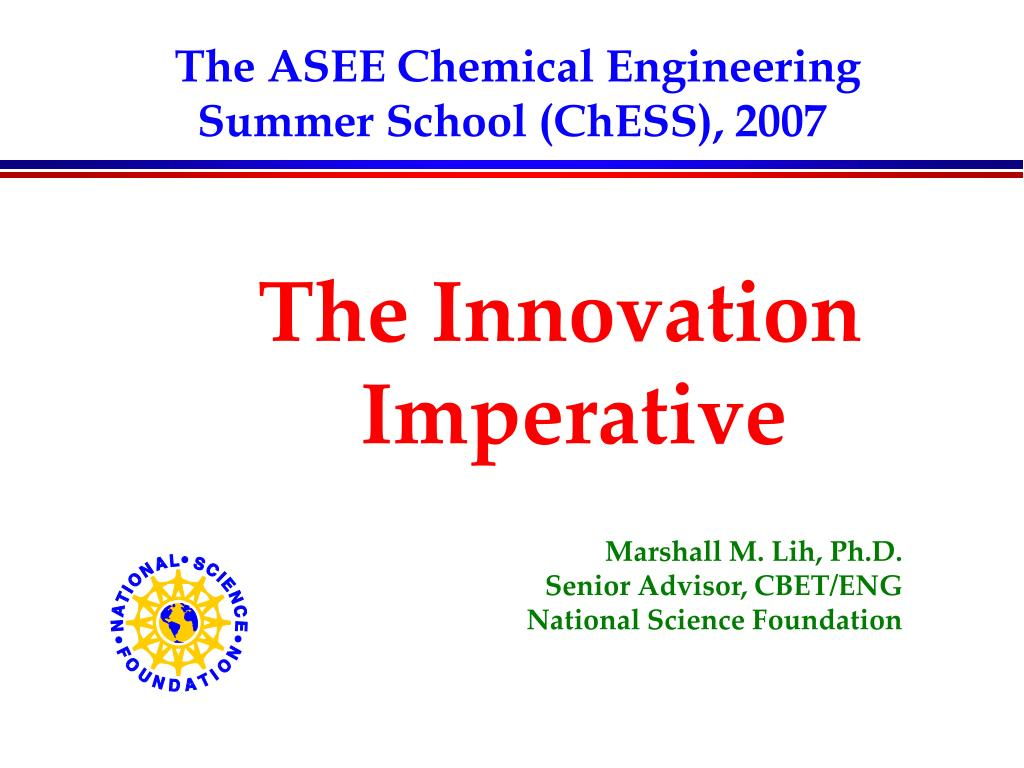 The ASEE Chemical Engineering