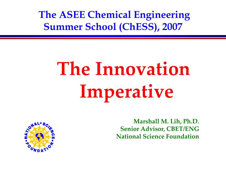 The asee chemical engineering summer school chess 2007