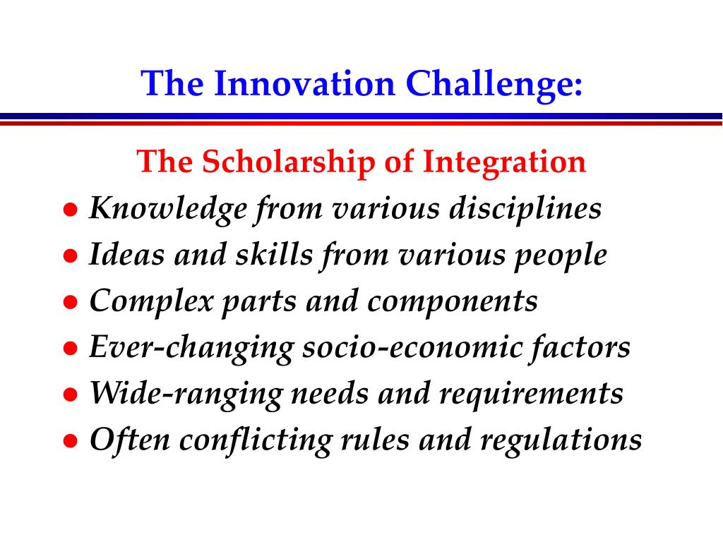 The Innovation Challenge: