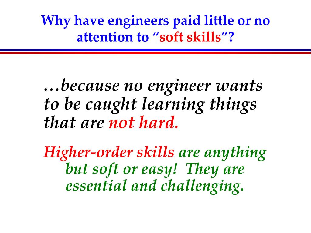 Why have engineers paid little or no attention to ""