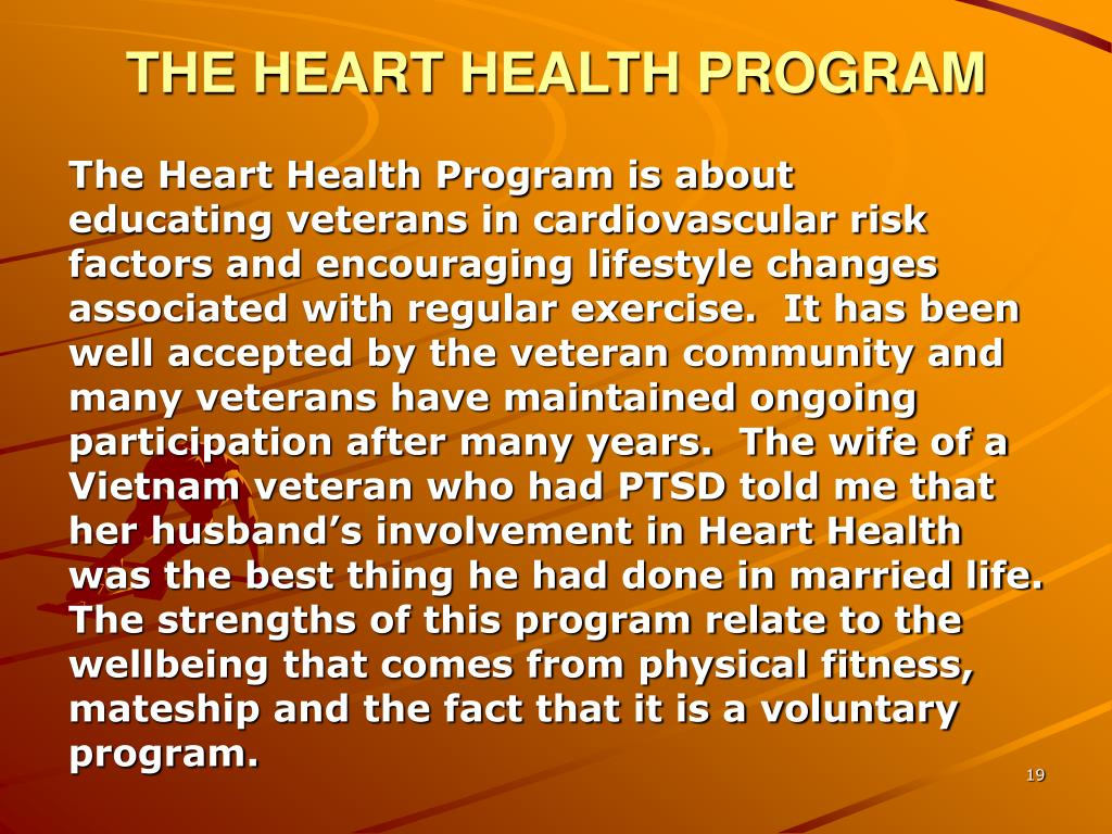 THE HEART HEALTH PROGRAM