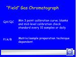 field gas chromatograph29