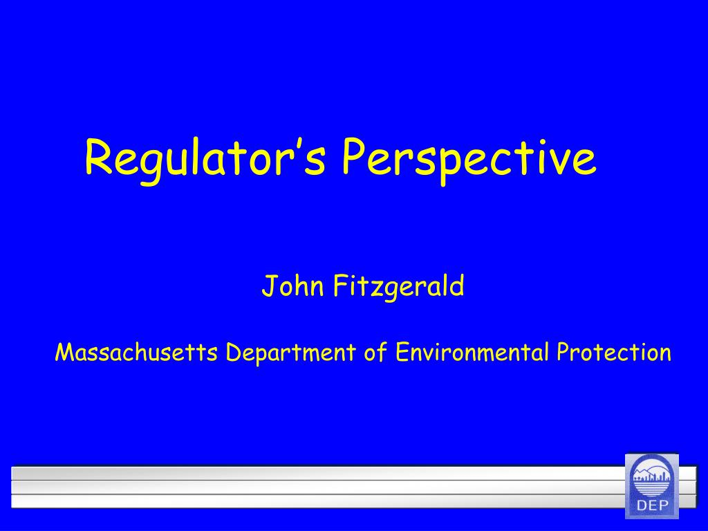 regulator s perspective l.
