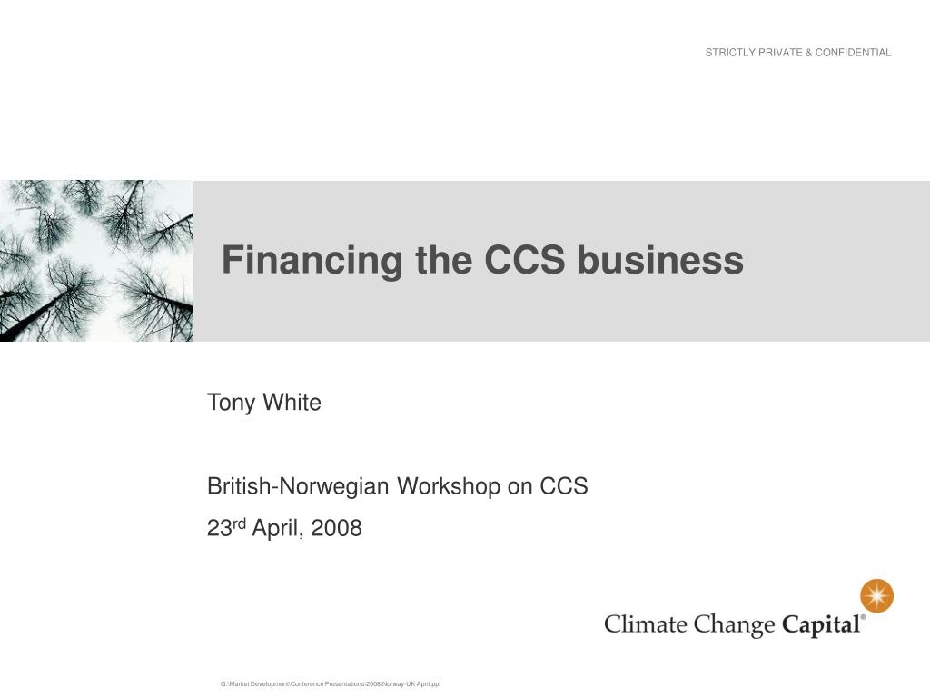 financing the ccs business l.