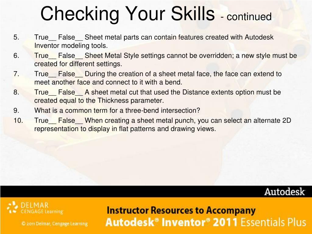 Checking Your Skills