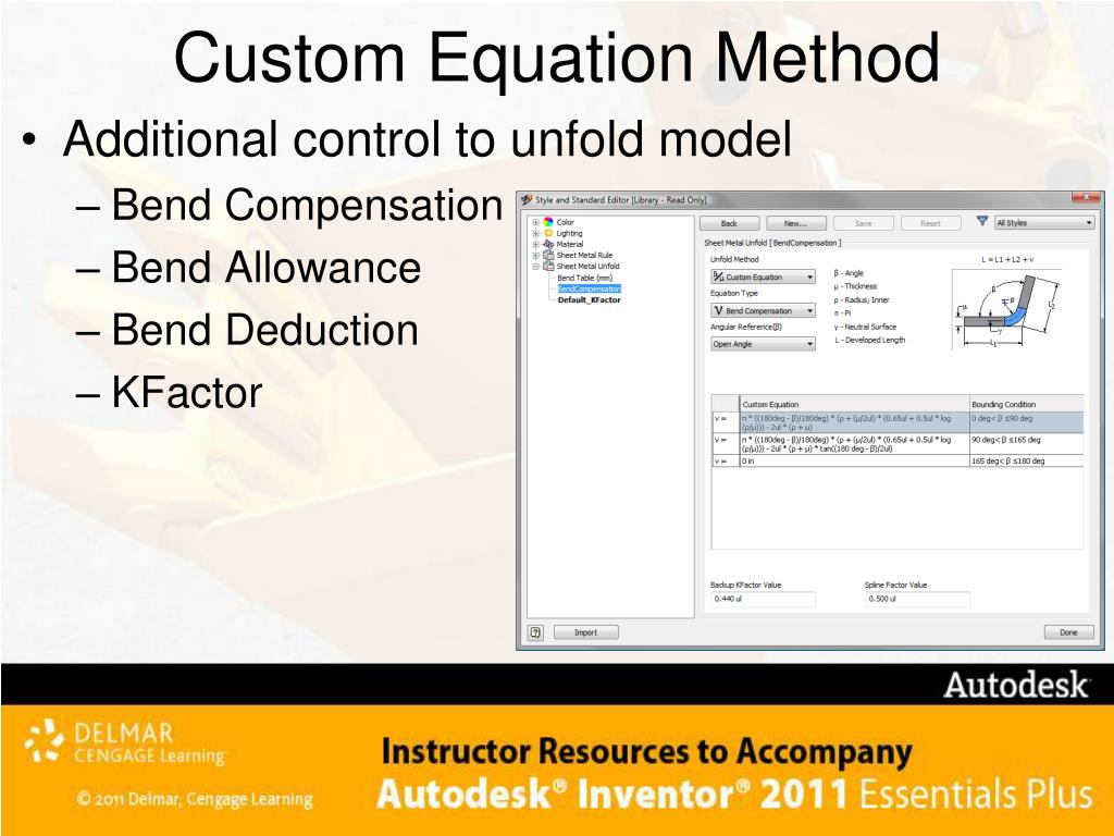 Custom Equation Method