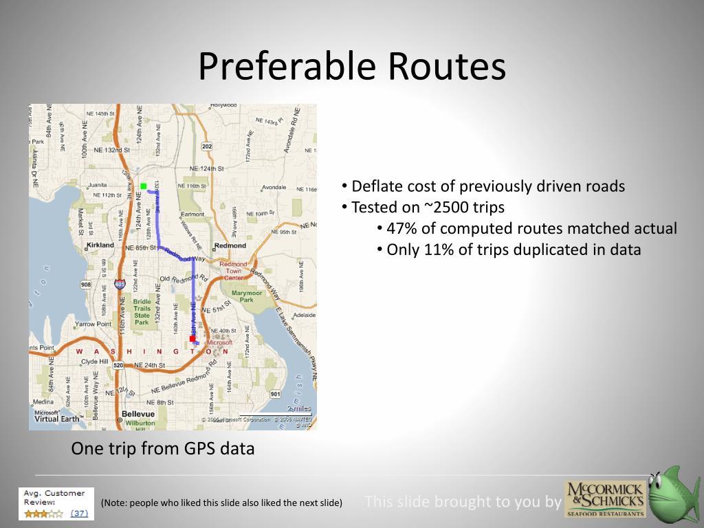 Preferable Routes