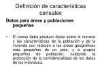 definici n de caracter sticas censales21
