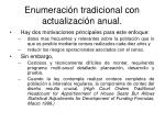 enumeraci n tradicional con actualizaci n anual31
