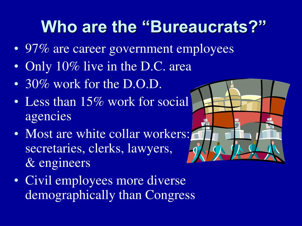 97% are career government employees