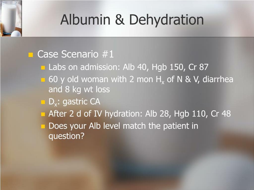 Albumin & Dehydration
