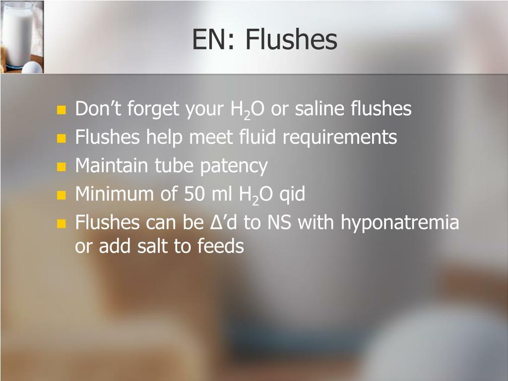 EN: Flushes
