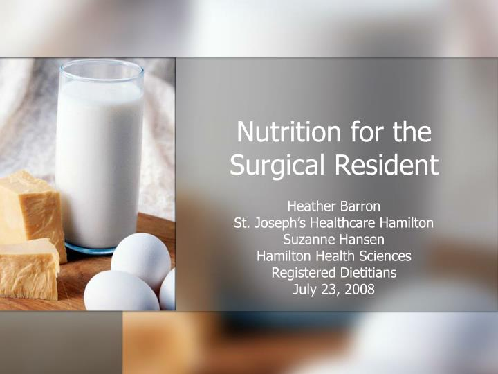 Nutrition for the surgical resident