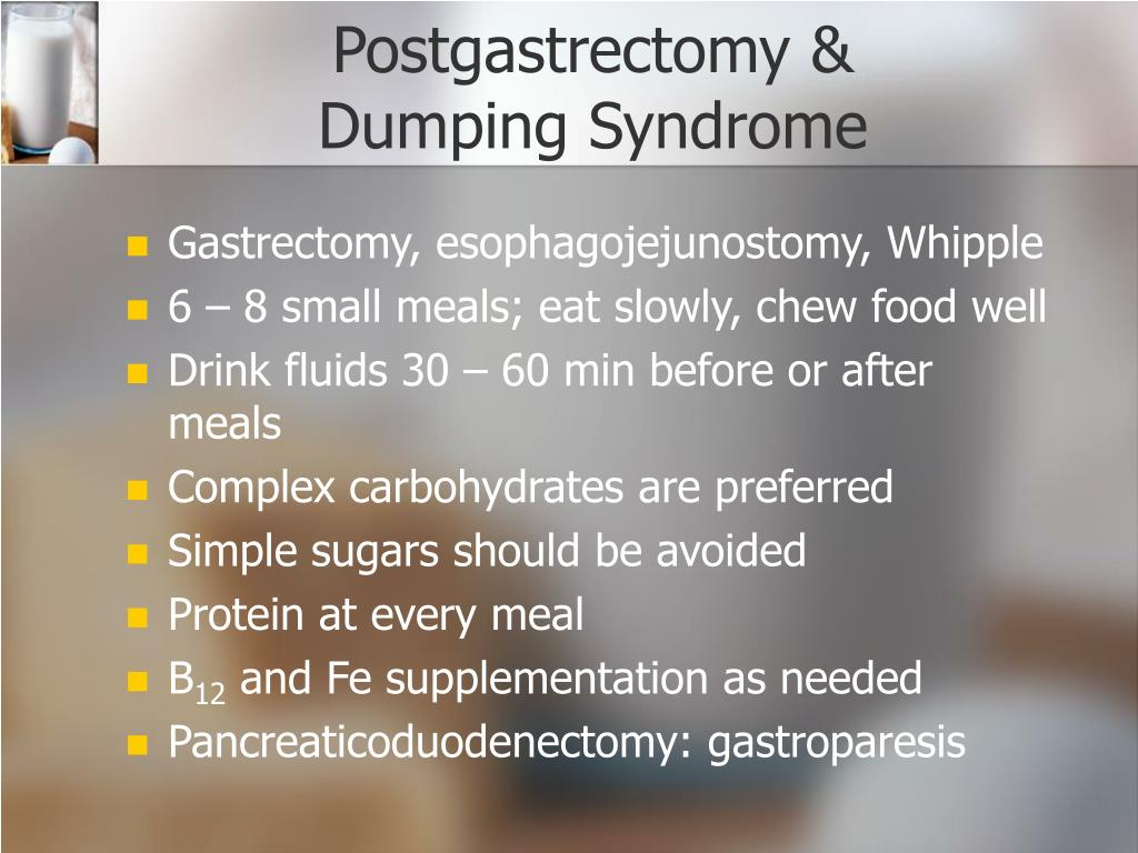 Postgastrectomy &