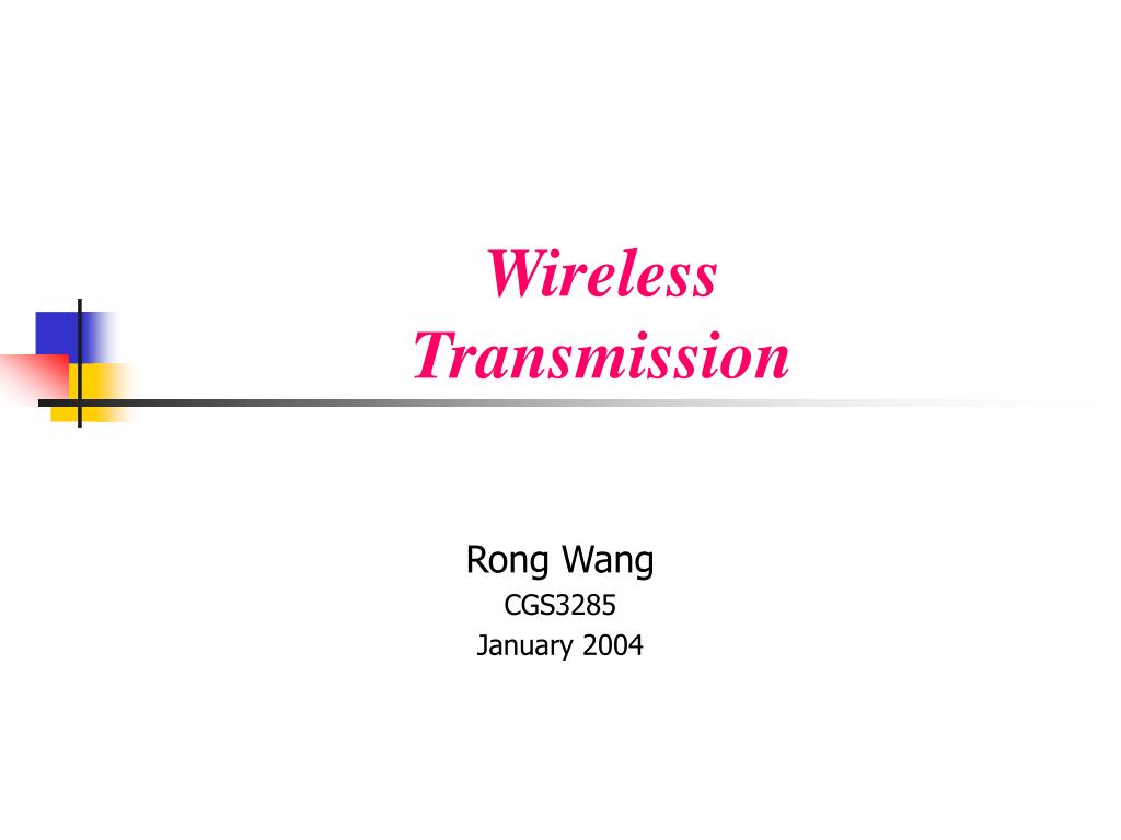 rong wang cgs3285 january 2004